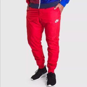 Nike Sportswear Windrunner Red Pants Men's Size XL